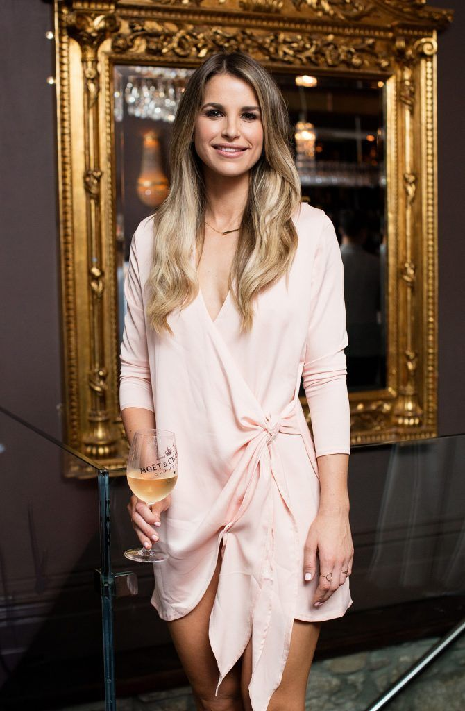 Vogue Williams pictured enjoying Moët Party Day in Dublin. Moët Party Day was a worldwide event that took place over 24 hours on Saturday, 11th June, starting in New Zealand and ending in Mexico #MoetPartyDay. Photo: Anthony Woods