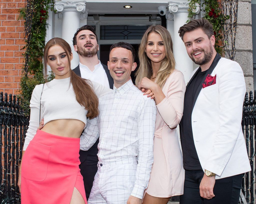 Roz Purcell, William Murray, James Kavanagh, Vogue Williams & James Butler pictured enjoying Moët Party Day in Dublin. Moët Party Day was a worldwide event that took place over 24 hours on Saturday, 11th June, starting in New Zealand and ending in Mexico #MoetPartyDay. Photo: Anthony Woods