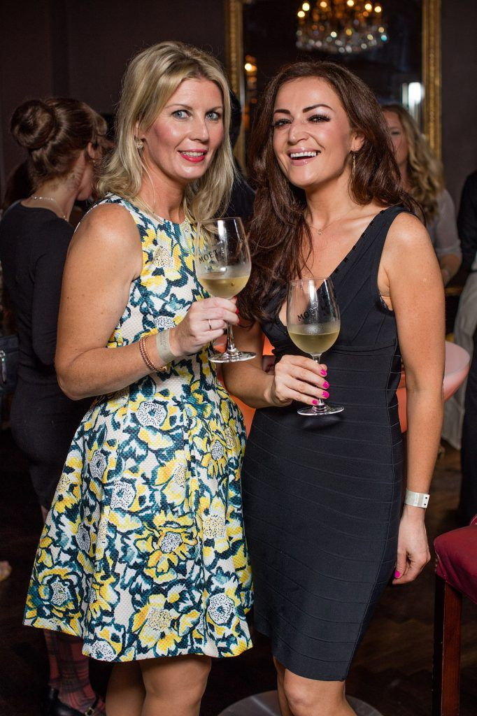 Susan Kiernan & Linda Monaghan pictured enjoying Moët Party Day in Dublin. Moët Party Day was a worldwide event that took place over 24 hours on Saturday, 11th June, starting in New Zealand and ending in Mexico #MoetPartyDay. Photo: Anthony Woods