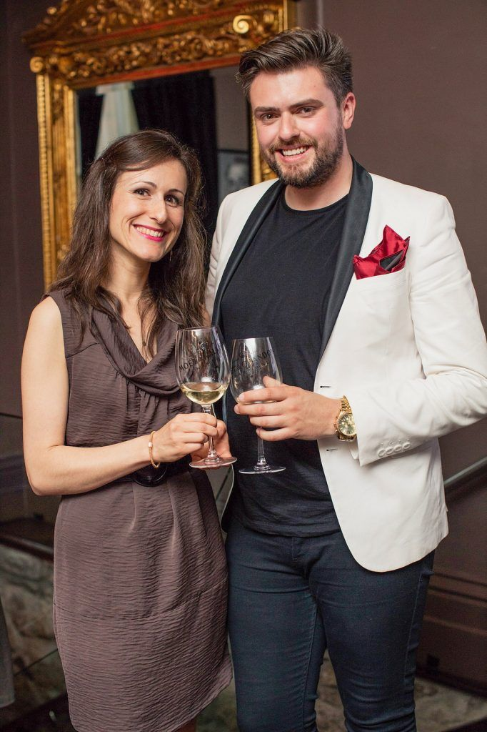 Julie Dupouy & James Butler pictured enjoying Moët Party Day in Dublin. Moët Party Day was a worldwide event that took place over 24 hours on Saturday, 11th June, starting in New Zealand and ending in Mexico #MoetPartyDay. Photo: Anthony Woods