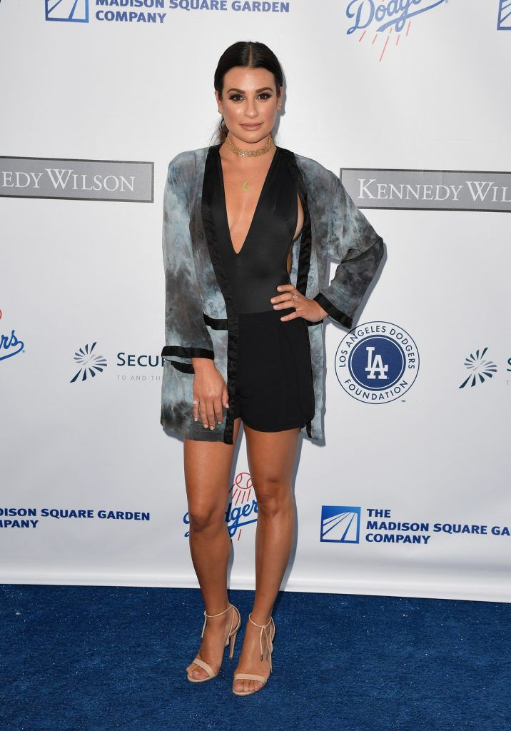 Actress Lea Michele at the Los Angeles Dodgers Foundation Blue Diamond Gala, July 28 2016. (Photo credit ANGELA WEISS/AFP/Getty Images)