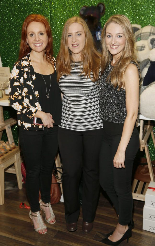 Jane Lundon, Emer O'Reilly and Natalie Burke attending the 'Gifted' by Arnotts media preview. The new 'Gifted' space will be open from 21st October-photo Kieran Harnett