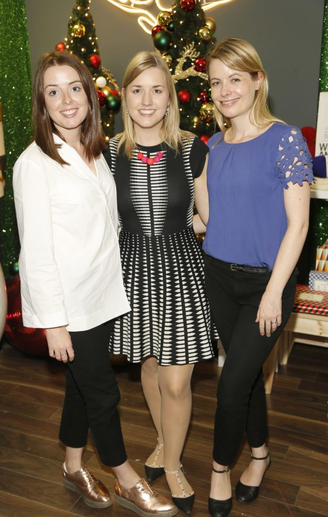 Kate Hynes with Aoibh and Kate O'Daly attending the 'Gifted' by Arnotts media preview. The new 'Gifted' space will be open from 21st October-photo Kieran Harnett