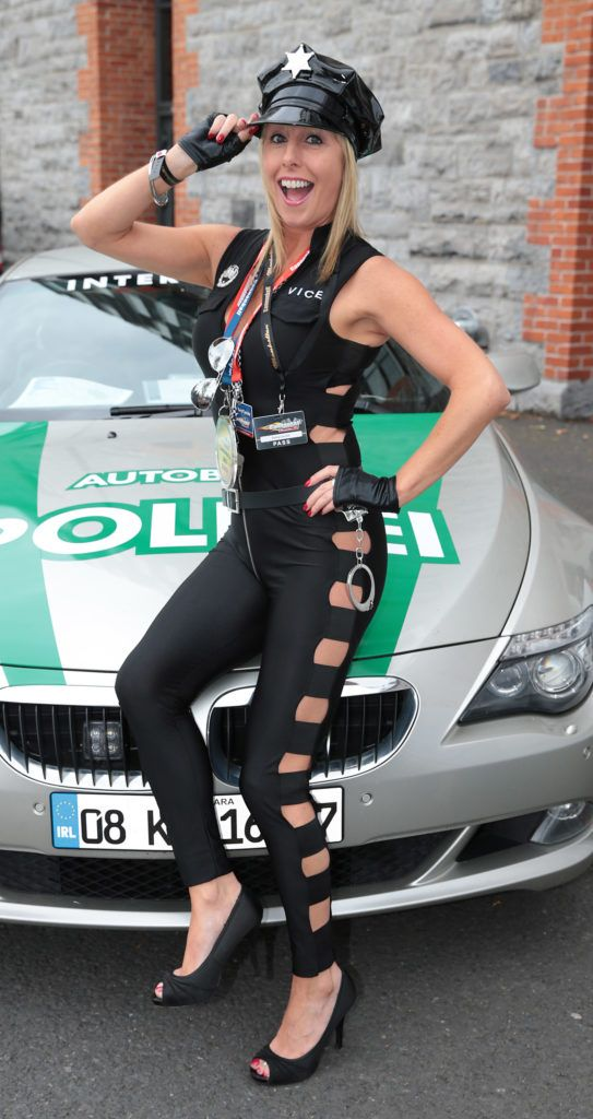 Romy Carroll at the start of the Cannonball Supercar 2016 event at Point Village Dublin. Proceeds from this year's Supercar spectacle will go to the Pieta House charity (Photo by Brian McEvoy).