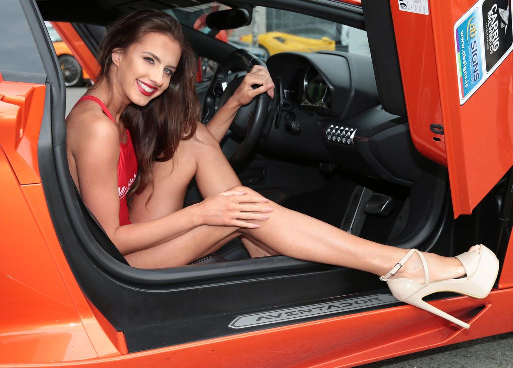 Jade Corcoran at the start of the Cannonball Supercar 2016 event at Point Village Dublin. Proceeds from this year's Supercar spectacle will go to the Pieta House charity (Photo by Brian McEvoy).