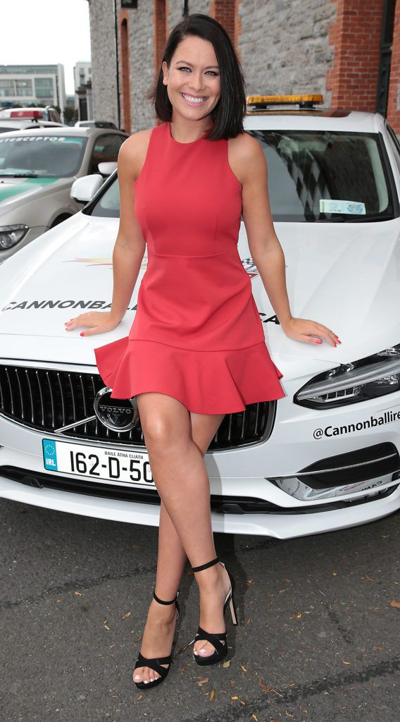 Michelle McGrath at the start of the Cannonball Supercar 2016 event at Point Village Dublin. Proceeds from this year's Supercar spectacle will go to the Pieta House charity (Photo by Brian McEvoy).
