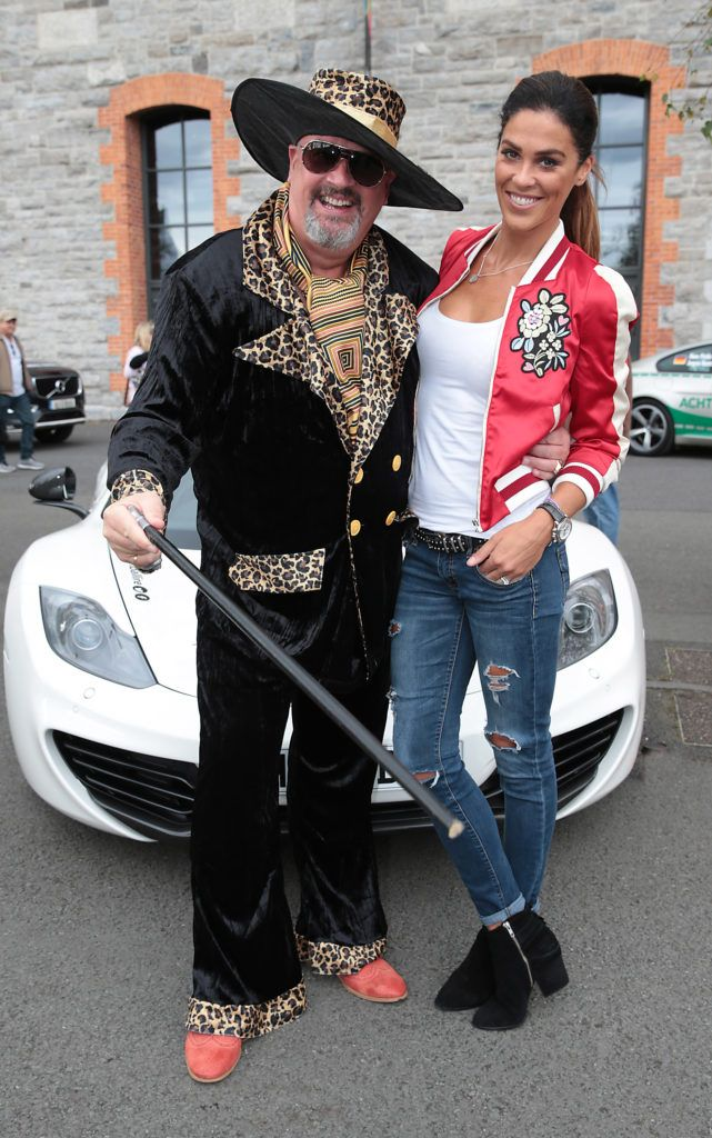 Pat McCloskey and Glenda Gilson at the start of the Cannonball Supercar 2016 event at Point Village Dublin. Proceeds from this year's Supercar spectacle will go to the Pieta House charity (Photo by Brian McEvoy).