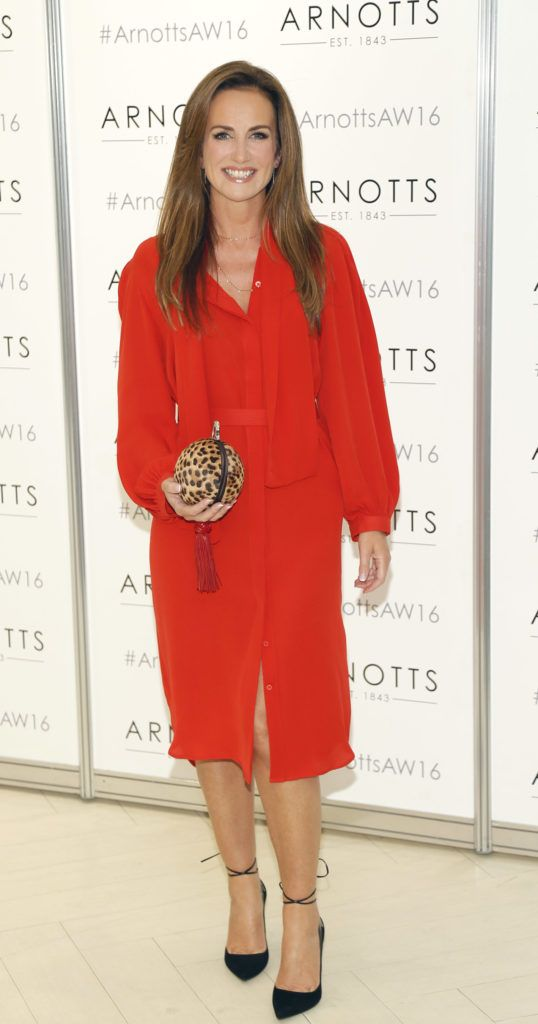 Lorraine Keane  at the launch of Peter O Brien for Arnotts collection and the Arnotts Autumn Winter 2016 launch (Photo by Kieran Harnett).