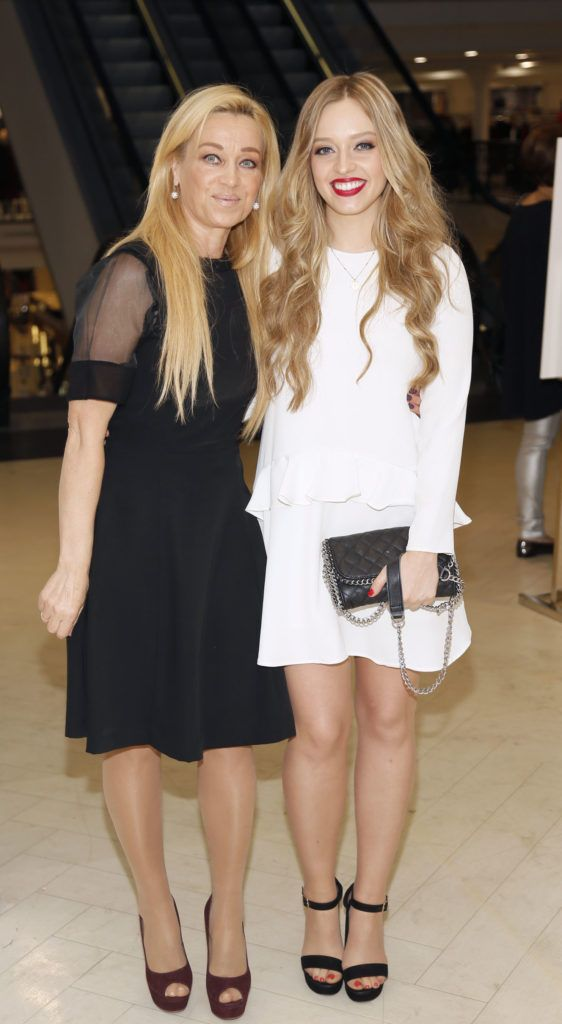 Maria and Diana Bunici  at the launch of Peter O Brien for Arnotts collection and the Arnotts Autumn Winter 2016 launch (Photo by Kieran Harnett).