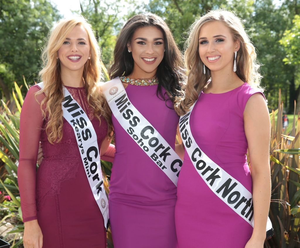 Orla Clancy, Bailey Olliffe and Amy Barry pictured at the preview of finalists for in the Miss Ireland 2016 Competition (Pictures by Brian McEvoy).