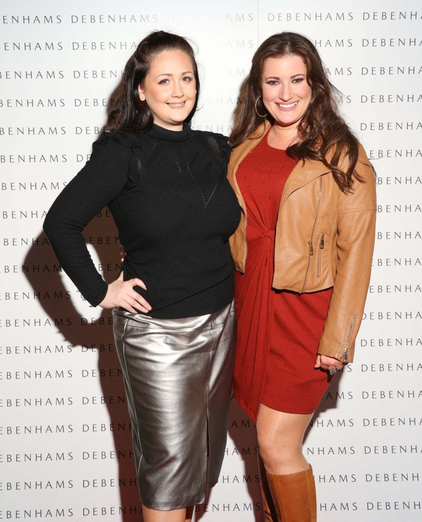 Pictured are Emma Fitzpatrick and Elaine Crowley as Debenhams showcased their AW16 collection last night in the stunning back drop of Christ Church Catherdral. Guests sipped on Mc Guigan Frizzante as 1st Options Model took to the Crypt catwalk for a show styled by top stylist Sonja Mohlich. Pic: Marc O'Sullivan
