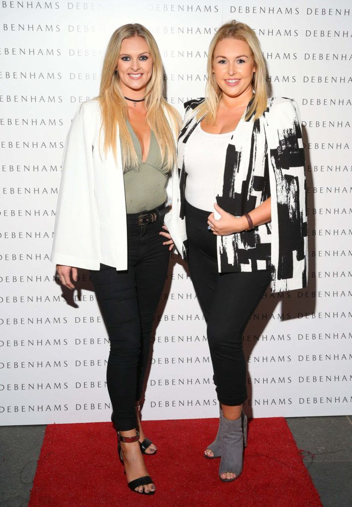 Pictured are Pamela Begley and Sinead O'Brien as Debenhams showcased their AW16 collection last night in the stunning back drop of Christ Church Catherdral. Guests sipped on Mc Guigan Frizzante as 1st Options Model took to the Crypt catwalk for a show styled by top stylist Sonja Mohlich. Pic: Marc O'Sullivan