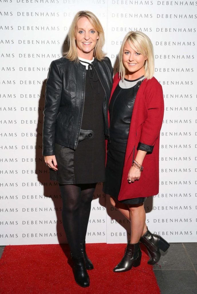 Pictured are Ruth Kennedy and Rebecca Brady as Debenhams showcased their AW16 collection last night in the stunning back drop of Christ Church Catherdral. Guests sipped on Mc Guigan Frizzante as 1st Options Model took to the Crypt catwalk for a show styled by top stylist Sonja Mohlich. Pic: Marc O'Sullivan