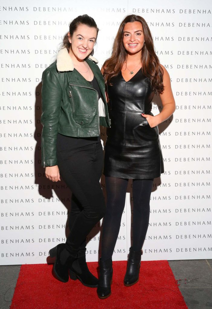 Pictured are Jess Glynn and Lisa Nolan as Debenhams showcased their AW16 collection last night in the stunning back drop of Christ Church Catherdral. Guests sipped on Mc Guigan Frizzante as 1st Options Model took to the Crypt catwalk for a show styled by top stylist Sonja Mohlich. Pic: Marc O'Sullivan