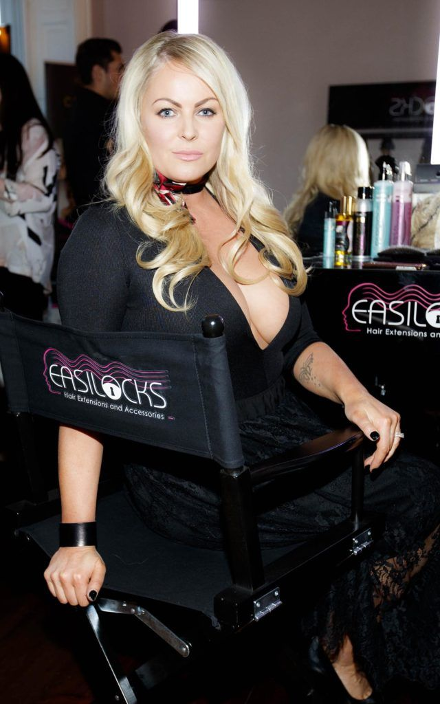 Amanda Brunker pictured at the launch of Easilocks Home Care Range in the Cliff Townhouse, Dublin. Previously only available in Salons Easilocks will now be available in pharmacies nationwide. Picture Andres Poveda