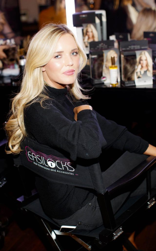 Hannah Saunders pictured at the launch of Easilocks Home Care Range in the Cliff Townhouse, Dublin. Previously only available in Salons Easilocks will now be available in pharmacies nationwide. Picture Andres Poveda