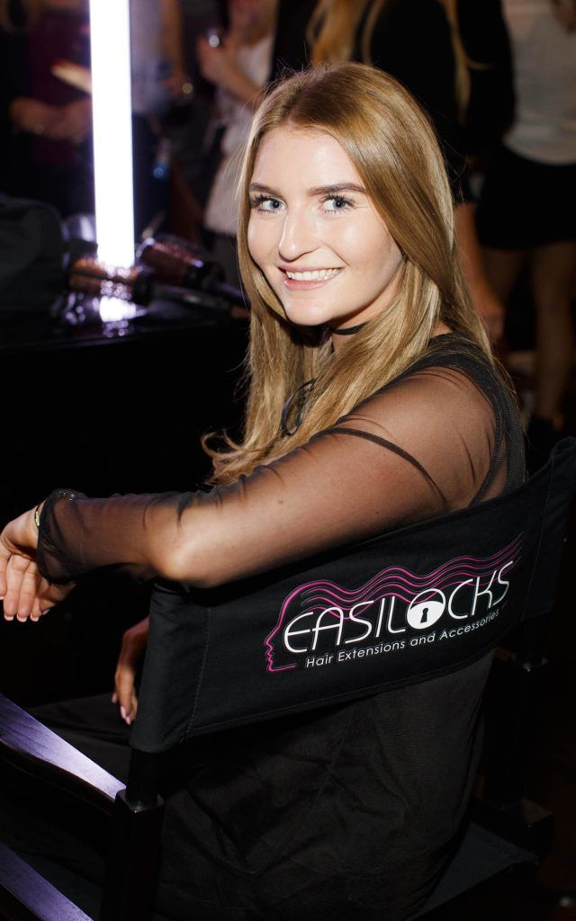 Leah Larkin pictured at the launch of Easilocks Home Care Range in the Cliff Townhouse, Dublin. Previously only available in Salons Easilocks will now be available in pharmacies nationwide. Picture Andres Poveda