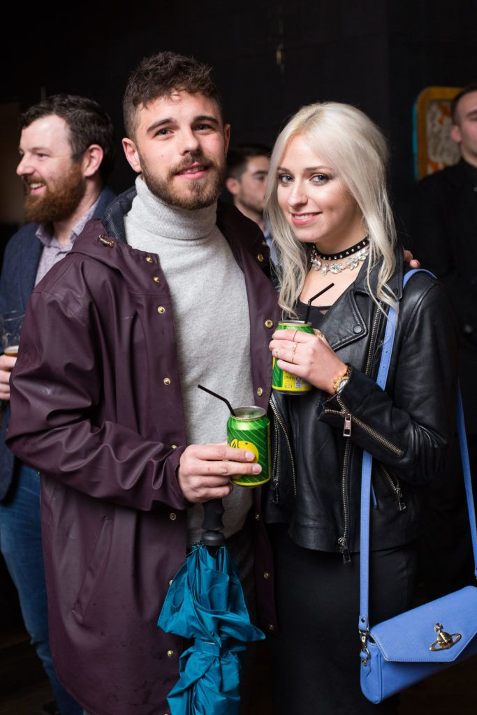 Conor O'Grady and Chloe Lamont enjoying Highline at Sophie's in The Dean, a New York Late Night Vibe in Dublin's only rooftop venue. Photo by Richie Stokes