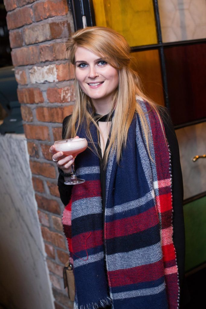 Lara Sutton enjoying Highline at Sophie's in The Dean, a New York Late Night Vibe in Dublin's only rooftop venue. Photo by Richie Stokes