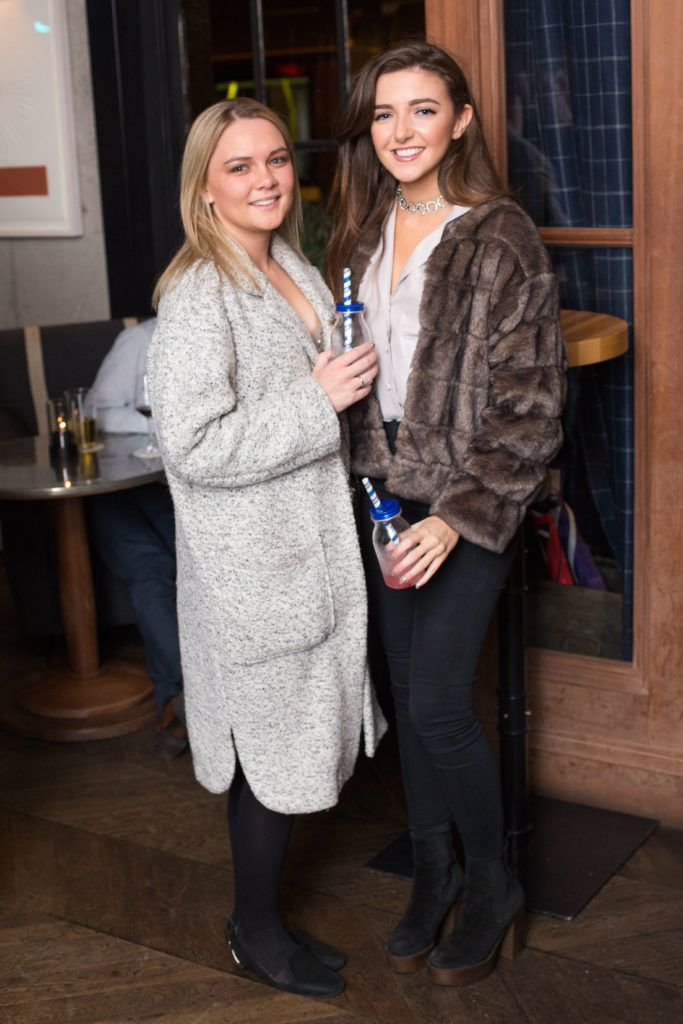Nancy O ' Neill and Orlagh Fagan enjoying Highline at Sophie's in The Dean, a New York Late Night Vibe in Dublin's only rooftop venue. Photo by Richie Stokes