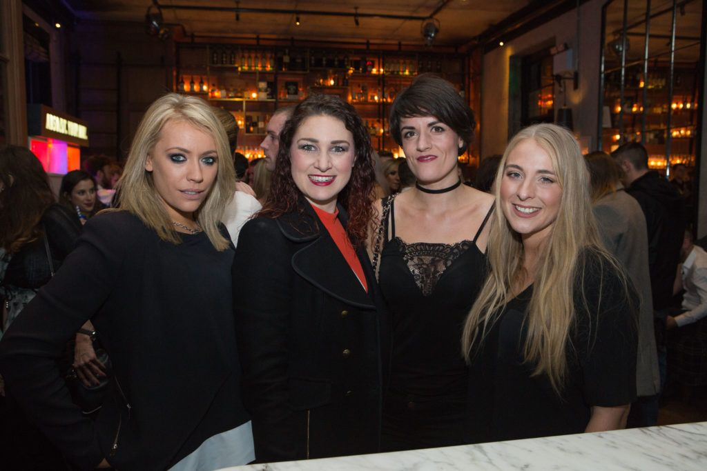 Sarah Smullen Olive Esler Ruth Lett and Hilary Johnson enjoying Highline at Sophie's in The Dean, a New York Late Night Vibe in Dublin's only rooftop venue. Photo by Richie Stokes