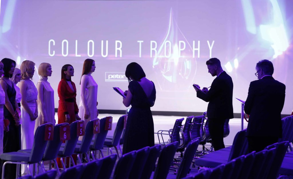 Pictured is the judging at the Peter Mark Colour Trophy 2016. MC for the night Brendan Courtney. Photography: Sasko Lazarov/Photocall Ireland