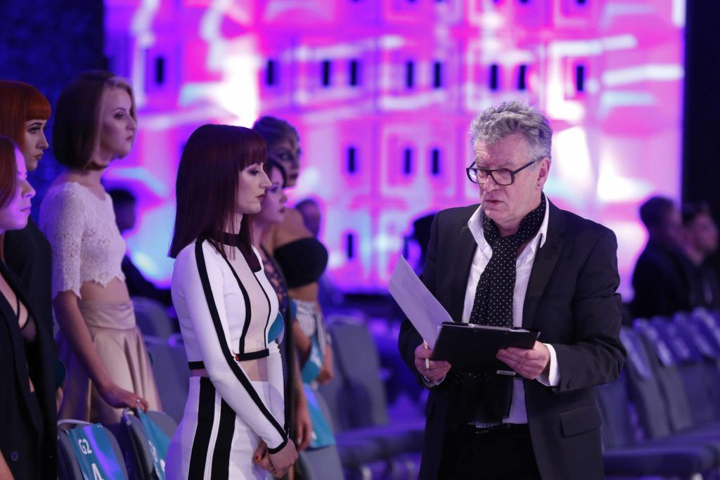 Pictured is Judge Ian Brady at the Peter Mark Colour Trophy 2016. MC for the night Brendan Courtney. Photography: Sasko Lazarov/Photocall Ireland