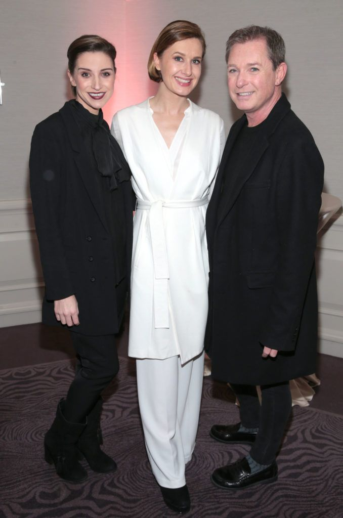 Dearbhla Keane , Roxannne Parker and Stephen Kelly at the Lancome Christmas Celebration at the Westbury Hotel, Dublin (Pictures: Brian McEvoy).