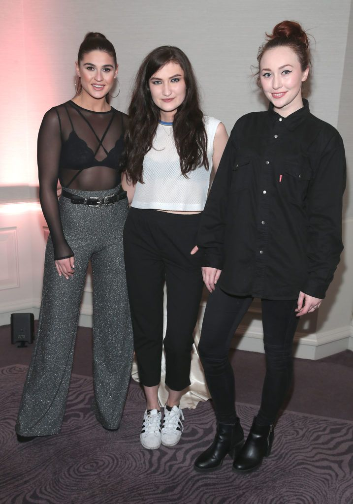 Lynne Kelly, Jenny Drea and January Russell at the Lancome Christmas Celebration at the Westbury Hotel, Dublin (Pictures: Brian McEvoy).