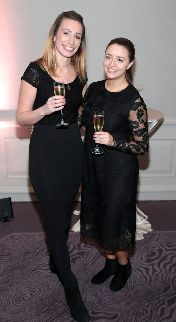 Vicky Jago and Jess Corcoran at the Lancome Christmas Celebration at the Westbury Hotel, Dublin (Pictures: Brian McEvoy).