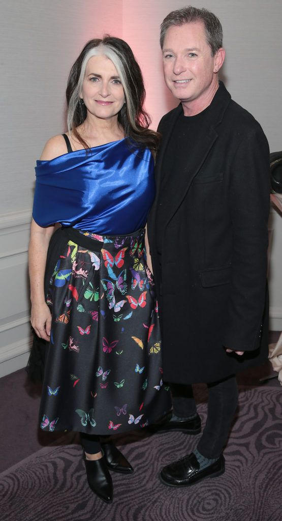 Cathy O Connor and Stephen Kelly at the Lancome Christmas Celebration at the Westbury Hotel, Dublin (Pictures: Brian McEvoy).
