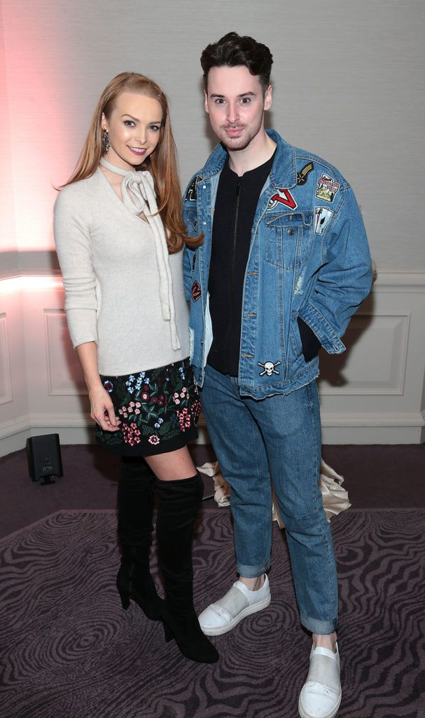 Aoife Walsh and Brian Conway at the Lancome Christmas Celebration at the Westbury Hotel, Dublin (Pictures: Brian McEvoy).