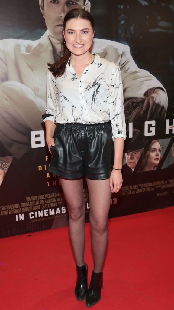 Model Jenny Drea  at the Irish premiere screening of Ben Affleck's new film  Live by  Night at the Savoy Cinema, Dublin.  Picture:Brian McEvoy