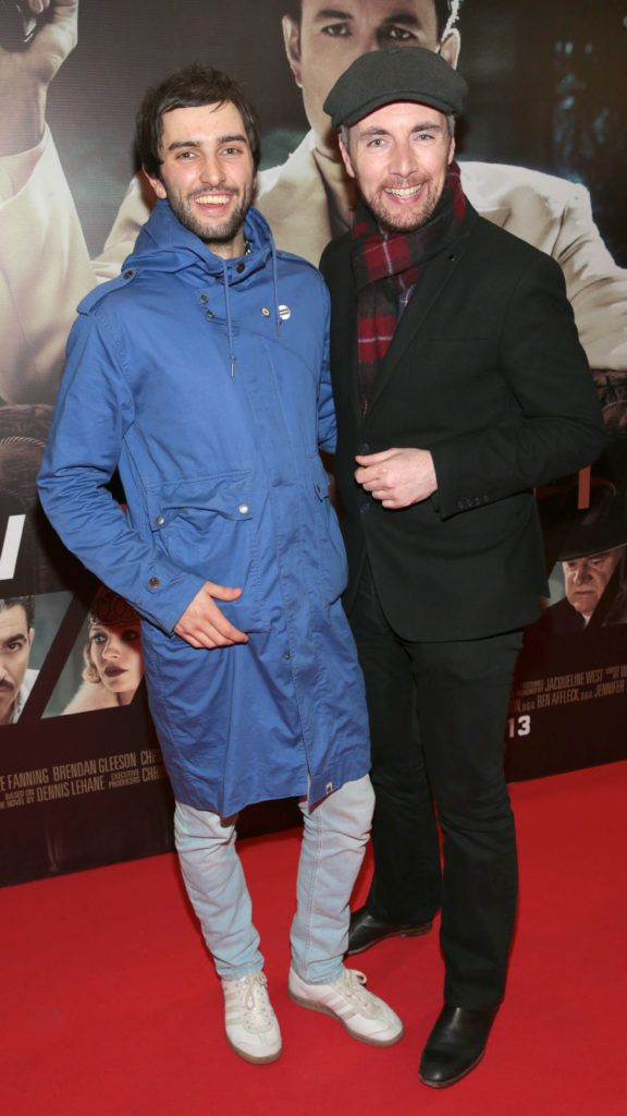 Andrew Jenkinson and Tony Calally at the Irish premiere screening of Ben Affleck's new film  Live by  Night at the Savoy Cinema, Dublin.  Picture:Brian McEvoy