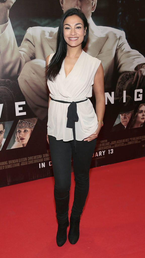 Gail Kaneswaran at the Irish premiere screening of Ben Affleck's new film  Live by  Night at the Savoy Cinema, Dublin.  Picture:Brian McEvoy