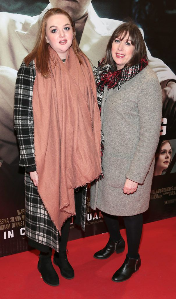 Amy Kerslake and Deirdre Kerslake at the Irish premiere screening of Ben Affleck's new film  Live by  Night at the Savoy Cinema, Dublin.  Picture:Brian McEvoy