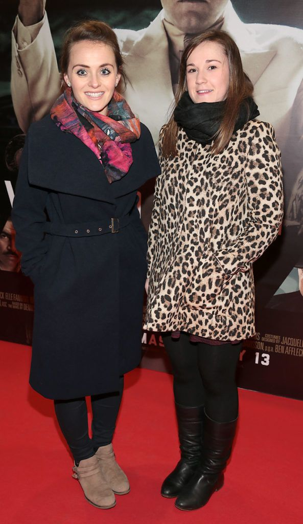 Aine Casey and Maura Campbell at the Irish premiere screening of Ben Affleck's new film  Live by  Night at the Savoy Cinema, Dublin.  Picture:Brian McEvoy