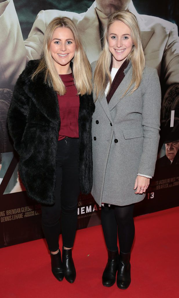 Keva Doyle and Anna Doyle at the Irish premiere screening of Ben Affleck's new film  Live by  Night at the Savoy Cinema, Dublin.  Picture:Brian McEvoy