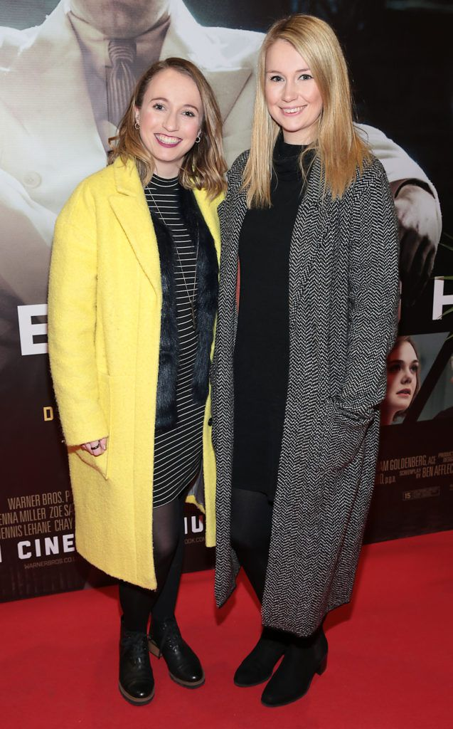Losie Osborne and Belle Osborne at the Irish premiere screening of Ben Affleck's new film  Live by  Night at the Savoy Cinema, Dublin.  Picture:Brian McEvoy