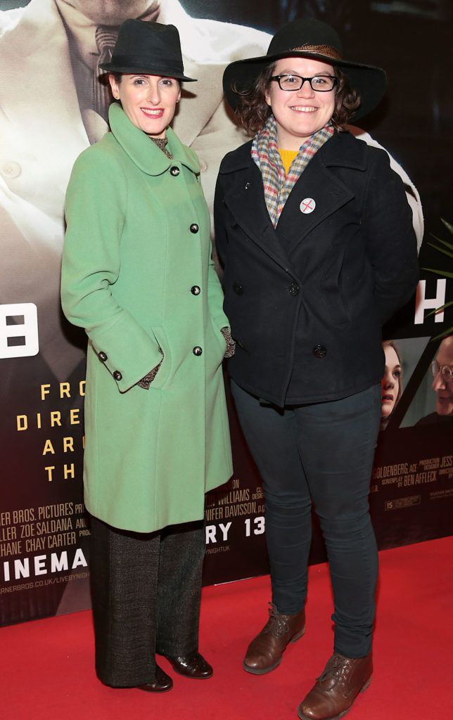 Miriam Devitt and Natasha Waugh at the Irish premiere screening of Ben Affleck's new film  Live by  Night at the Savoy Cinema, Dublin.  Picture:Brian McEvoy