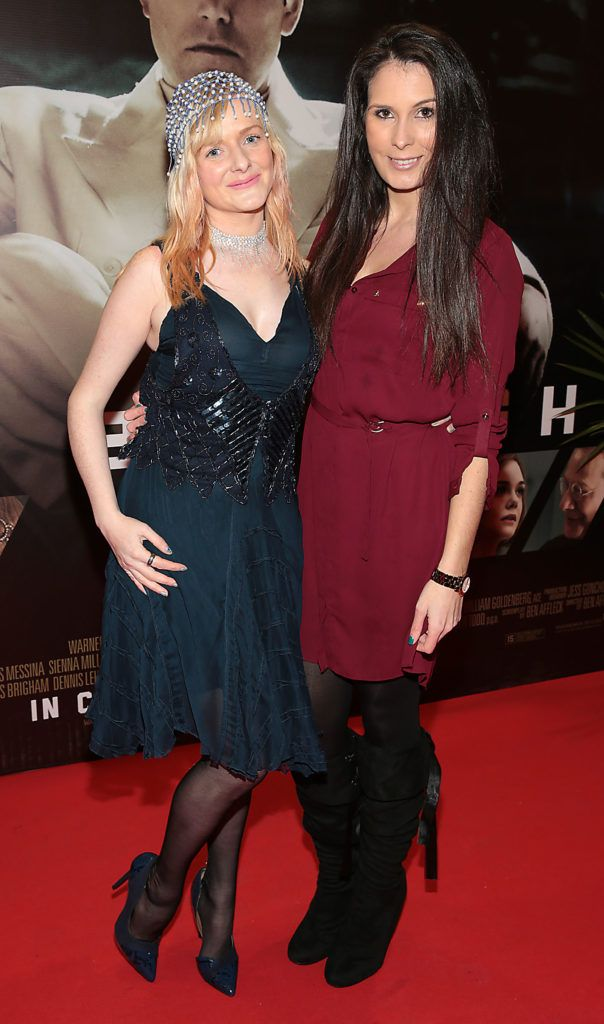 Klara McDonnell and Danni Masterson at the Irish premiere screening of Ben Affleck's new film  Live by  Night at the Savoy Cinema, Dublin.  Picture:Brian McEvoy