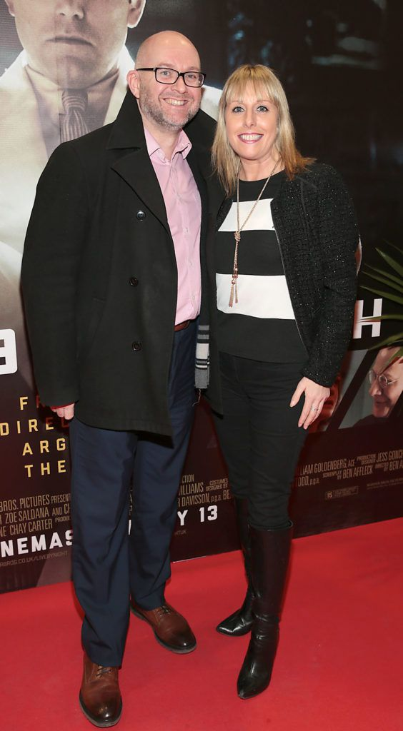 Wayne Kearns and Romy Carroll at the Irish premiere screening of Ben Affleck's new film  Live by  Night at the Savoy Cinema, Dublin.  Picture:Brian McEvoy