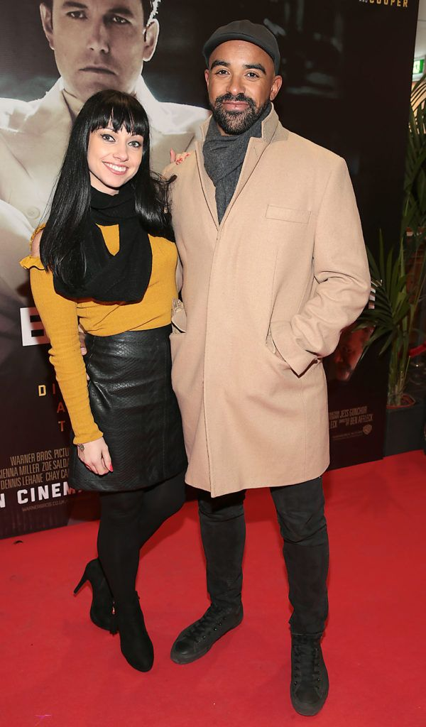 Olivia Hogan and Luke Sweetman at the Irish premiere screening of Ben Affleck's new film  Live by  Night at the Savoy Cinema, Dublin.  Picture:Brian McEvoy