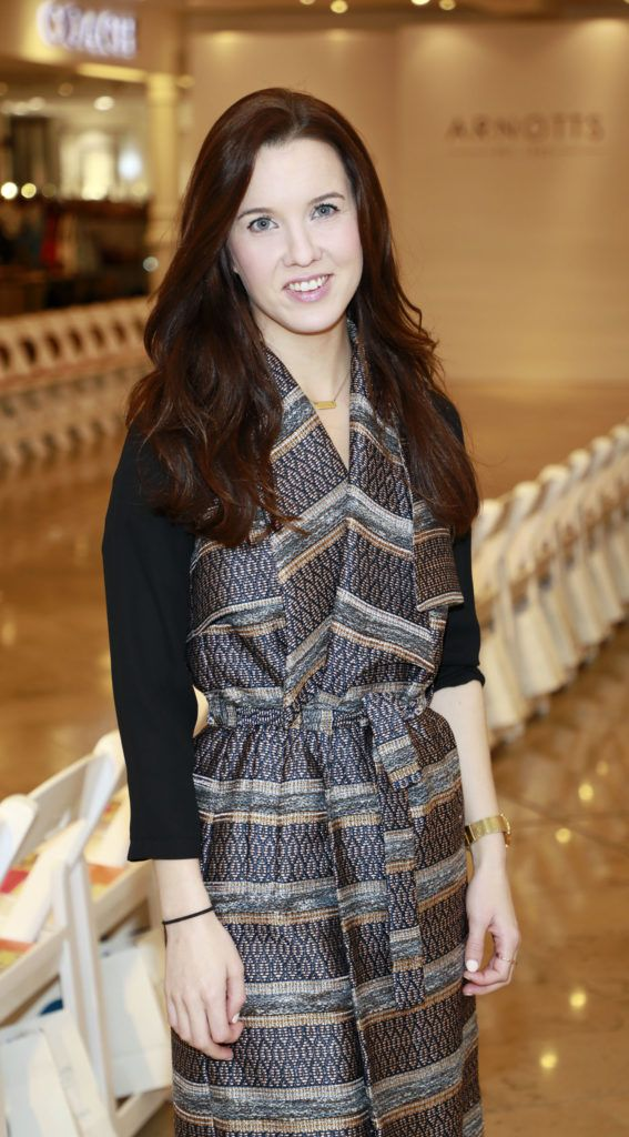 Cathy Donohue at the launch of Arnotts Spring Summer 2017 womenswear collections in the Accessories Hall at Arnotts -photo Kieran Harnett