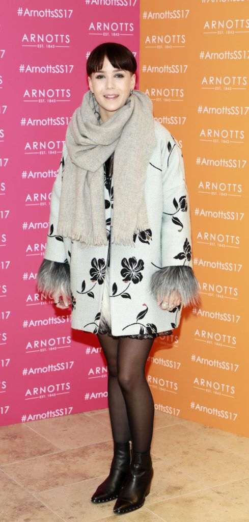 Maya Olsen at the launch of Arnotts Spring Summer 2017 womenswear collections in the Accessories Hall at Arnotts -photo Kieran Harnett