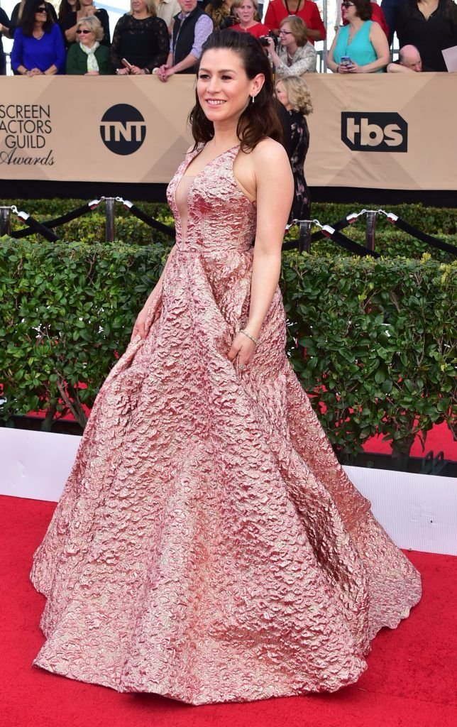 Actress Yael Stone arrives for the 23rd Annual Screen Actors Guild Awards at the Shrine Exposition Center on January 29, 2017, in Los Angeles, California. (Photo FREDERIC J. BROWN/AFP/Getty Images)