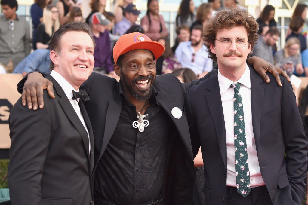 LOS ANGELES, CA - JANUARY 29:  (L-R) Actors Joe Chrest, Rob Morgan, and John Reynolds attend The 23rd Annual Screen Actors Guild Awards at The Shrine Auditorium on January 29, 2017 in Los Angeles, California. 26592_008  (Photo by Frazer Harrison/Getty Images)
