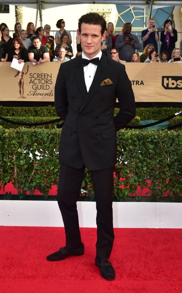 Actor Matt Smith arrives for the 23rd Annual Screen Actors Guild Awards at the Shrine Exposition Center on January 29, 2017, in Los Angeles, California.  (Photo FREDERIC J. BROWN/AFP/Getty Images)
