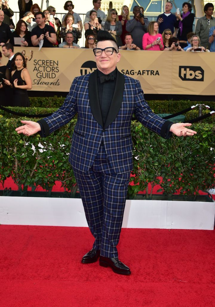 Actress Lea DeLaria arrives for the 23rd Annual Screen Actors Guild Awards at the Shrine Exposition Center on January 29, 2017, in Los Angeles, California. (Photo FREDERIC J. BROWN/AFP/Getty Images)