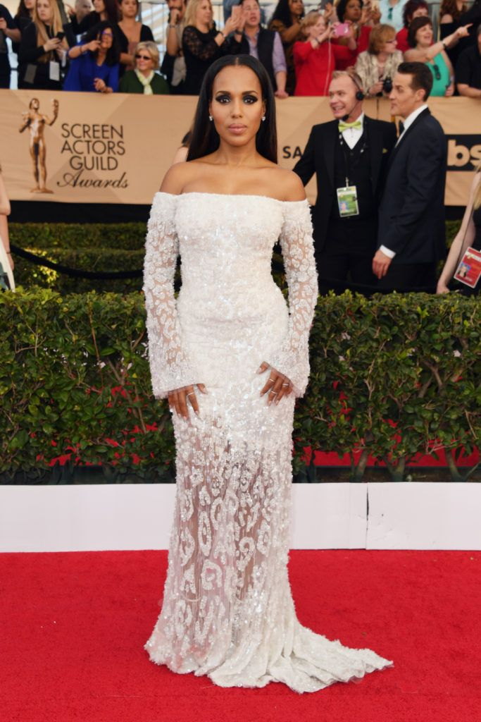 LOS ANGELES, CA - JANUARY 29:  Actor Kerry Washington attends the 23rd Annual Screen Actors Guild Awards at The Shrine Expo Hall on January 29, 2017 in Los Angeles, California.  (Photo by Alberto E. Rodriguez/Getty Images)